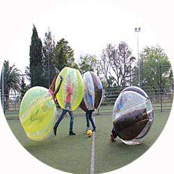bubble football lisbon stag activities